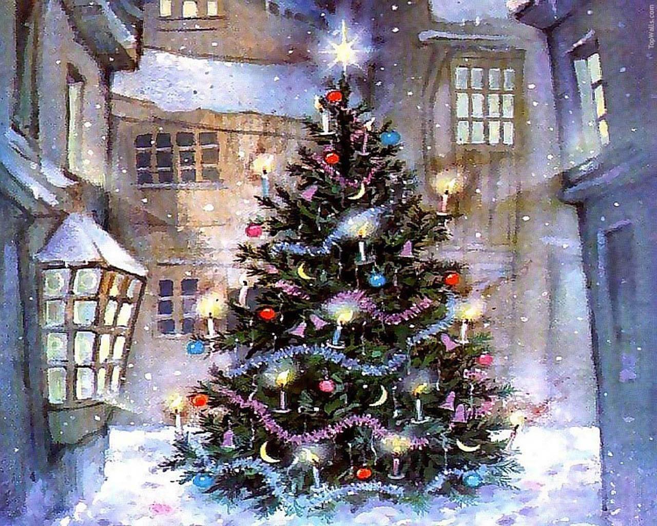 1280x1024 Christmas tree inside desktop PC and Mac wallpaper 1280x1024