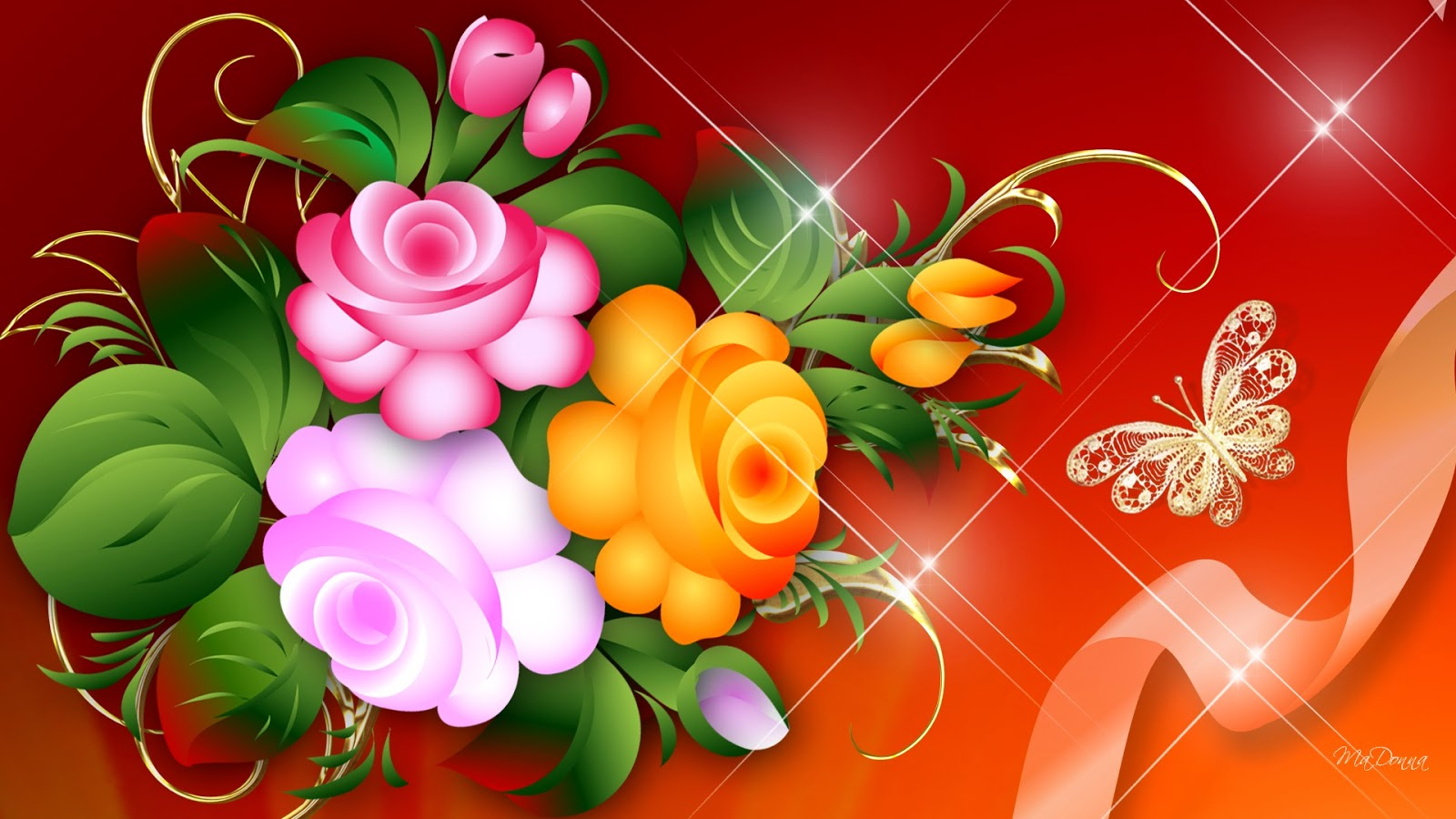 Bright flower wallpaper   beautiful desktop wallpapers 2014 1600x900