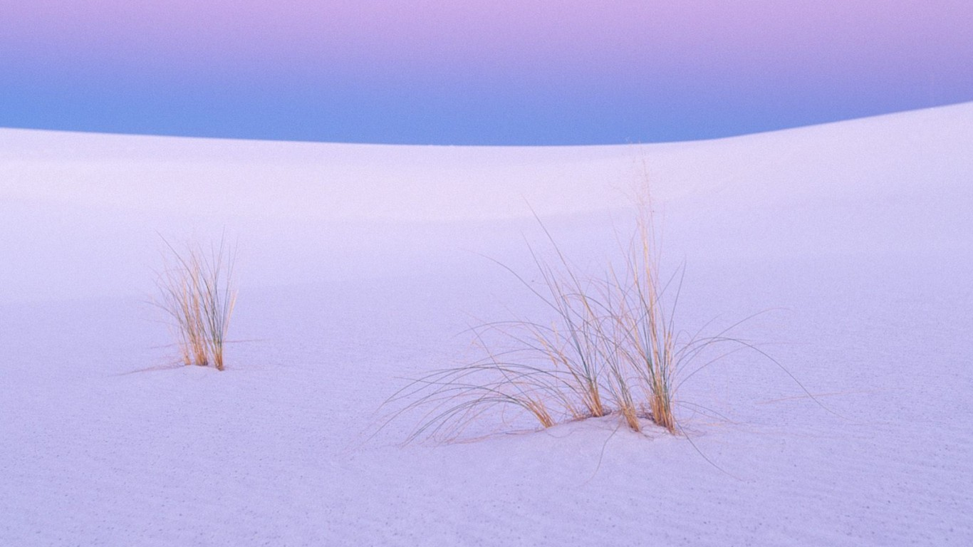 New Mexico Wallpaper 1366x768 New Mexico Tranquility White Sands 1366x768
