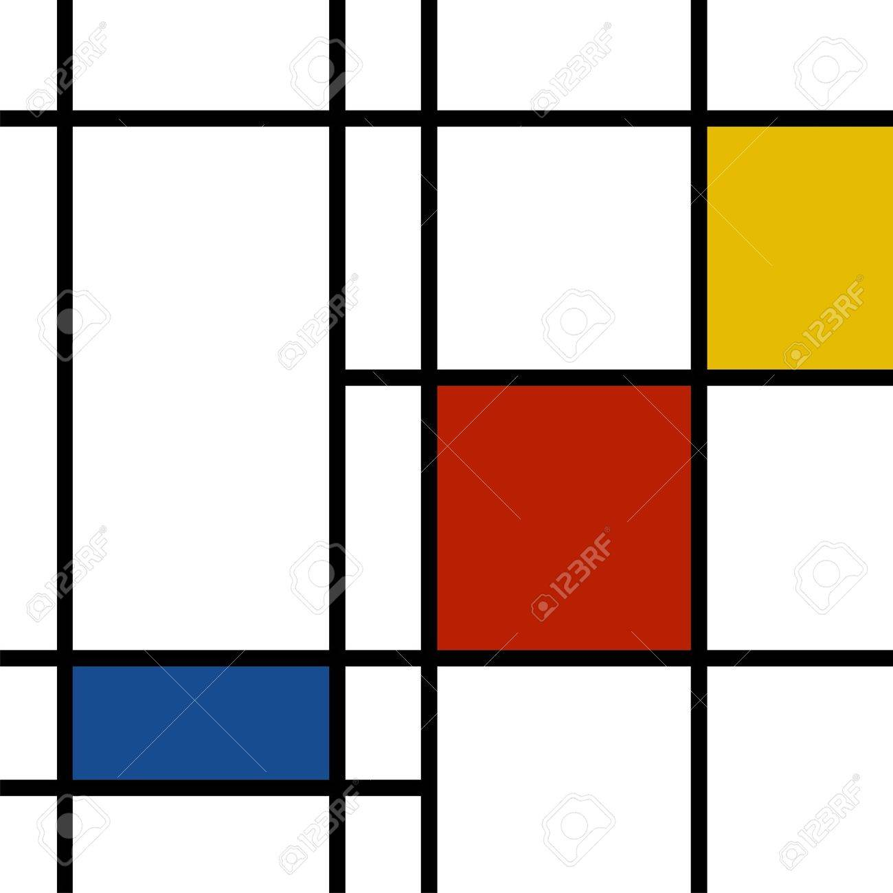 Mondrian Inspired Vibrant Colors Background Stock Photo Picture 1300x1300