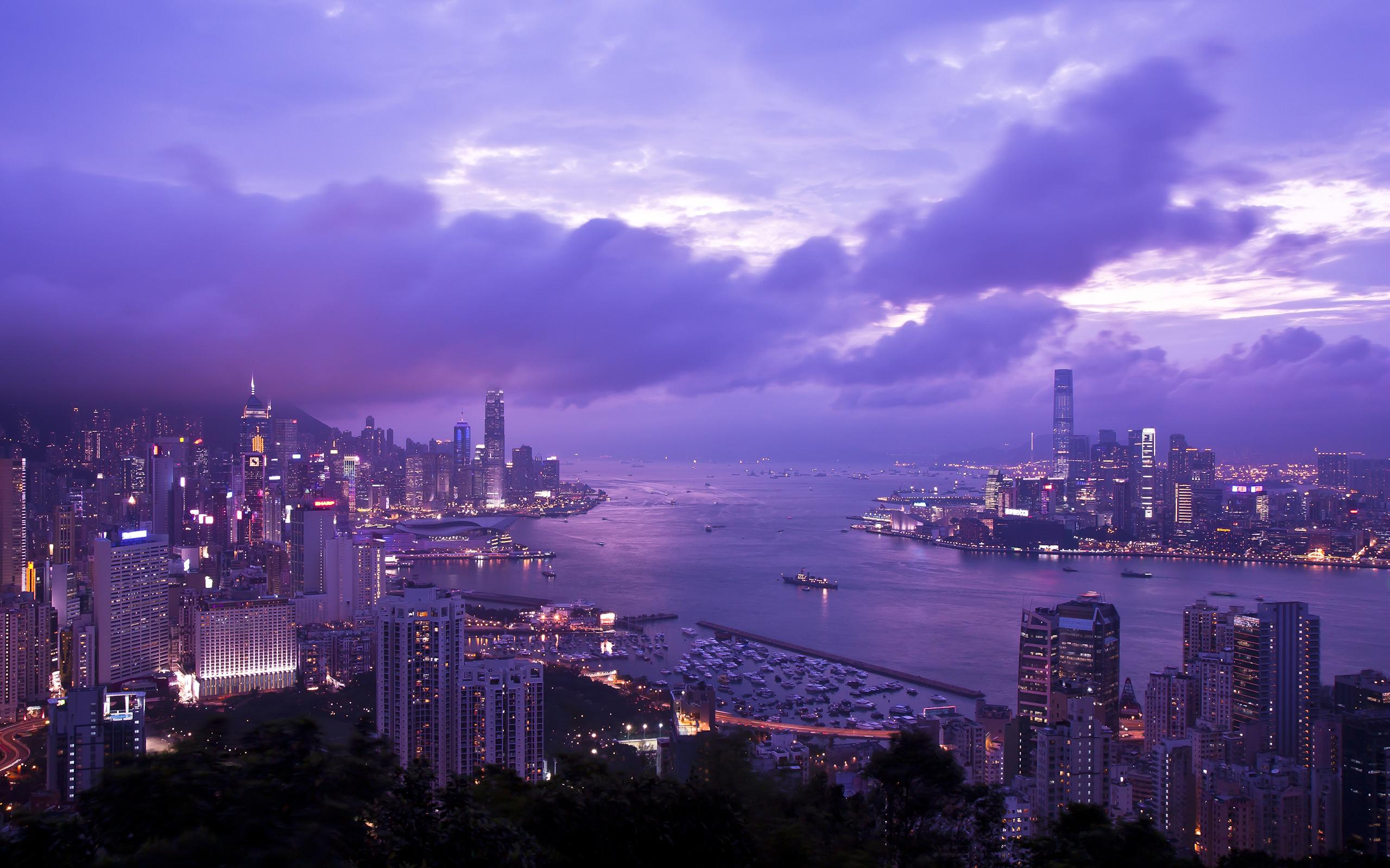 HD Harbor in Hong Kong Wallpaper Download   150092 2560x1600