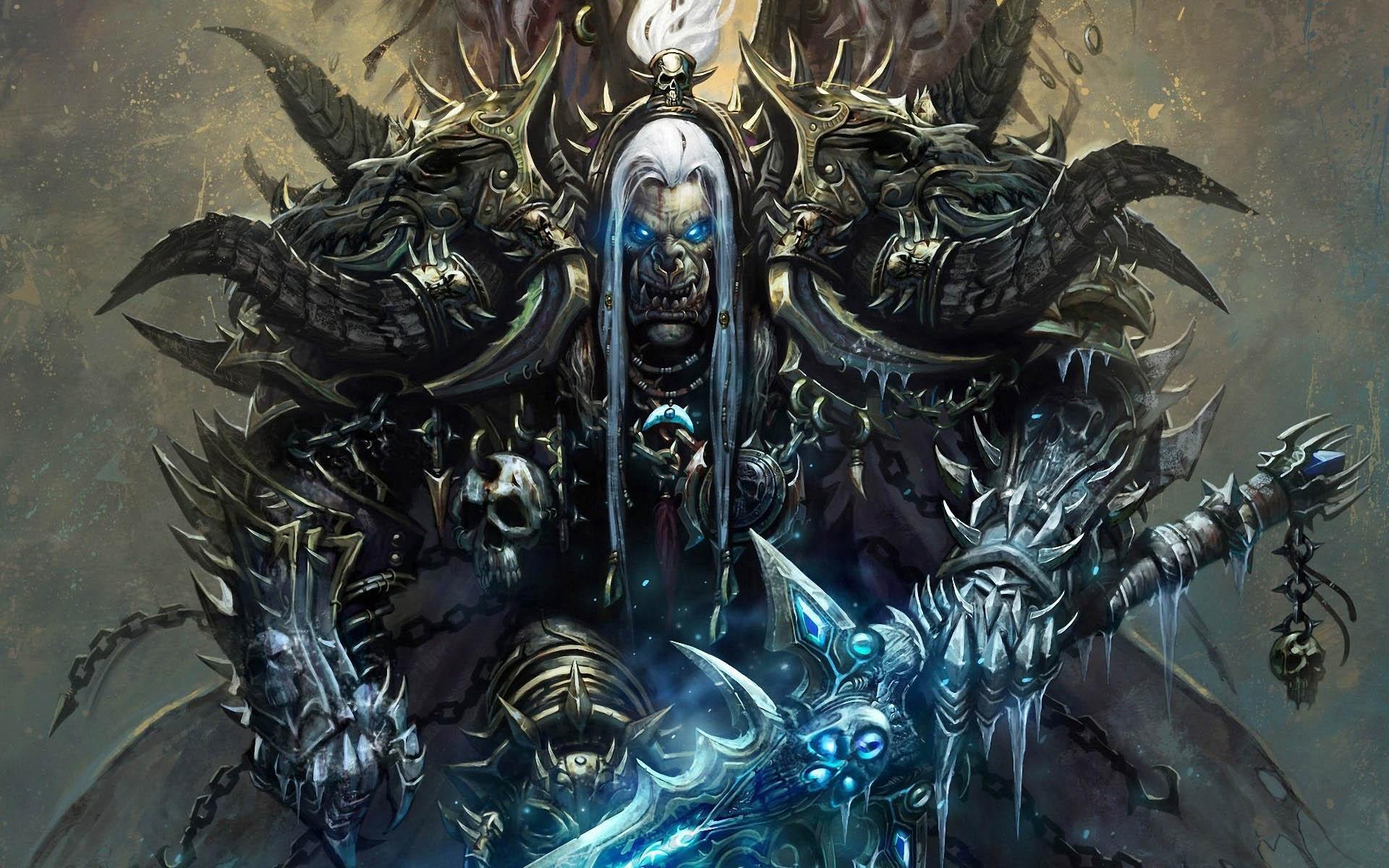 Warcraft Orc Knight Warrior Sword Wow Armor   Stock Photos 1920x1200