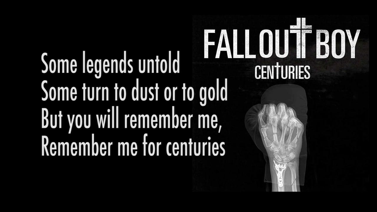 Free Download Fall Out Boy Centuries Lyrics On Vimeo 1280x720