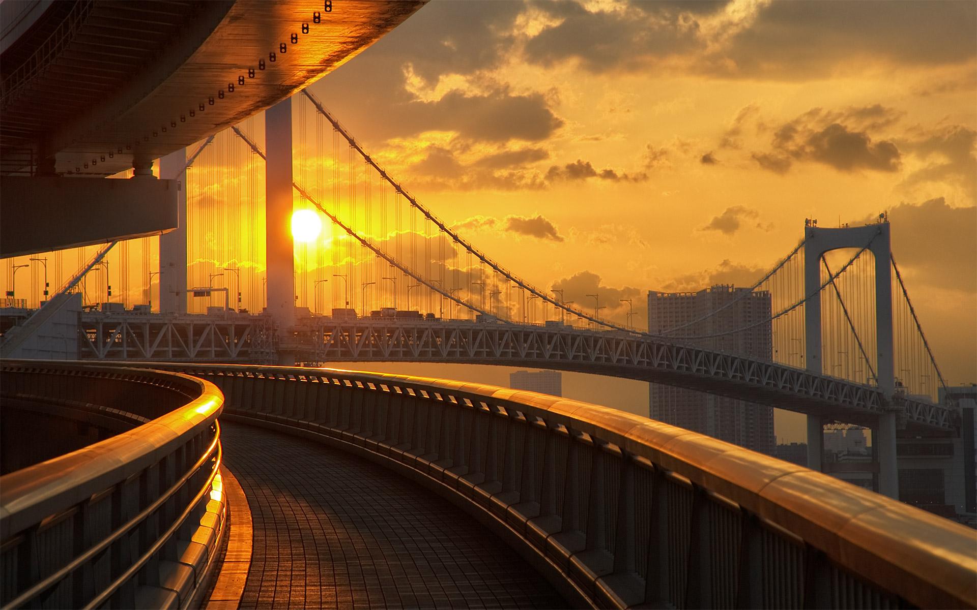 Daily Wallpaper Odaiba Rainbow Bridge I Like To Waste My Time 1920x1200