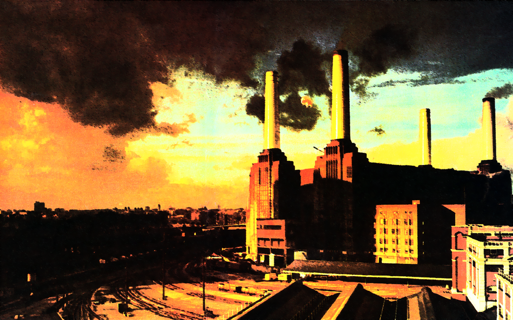 Pink Floyd Animals Wallpaper - WallpaperSafari  Pink Floyd Anim...