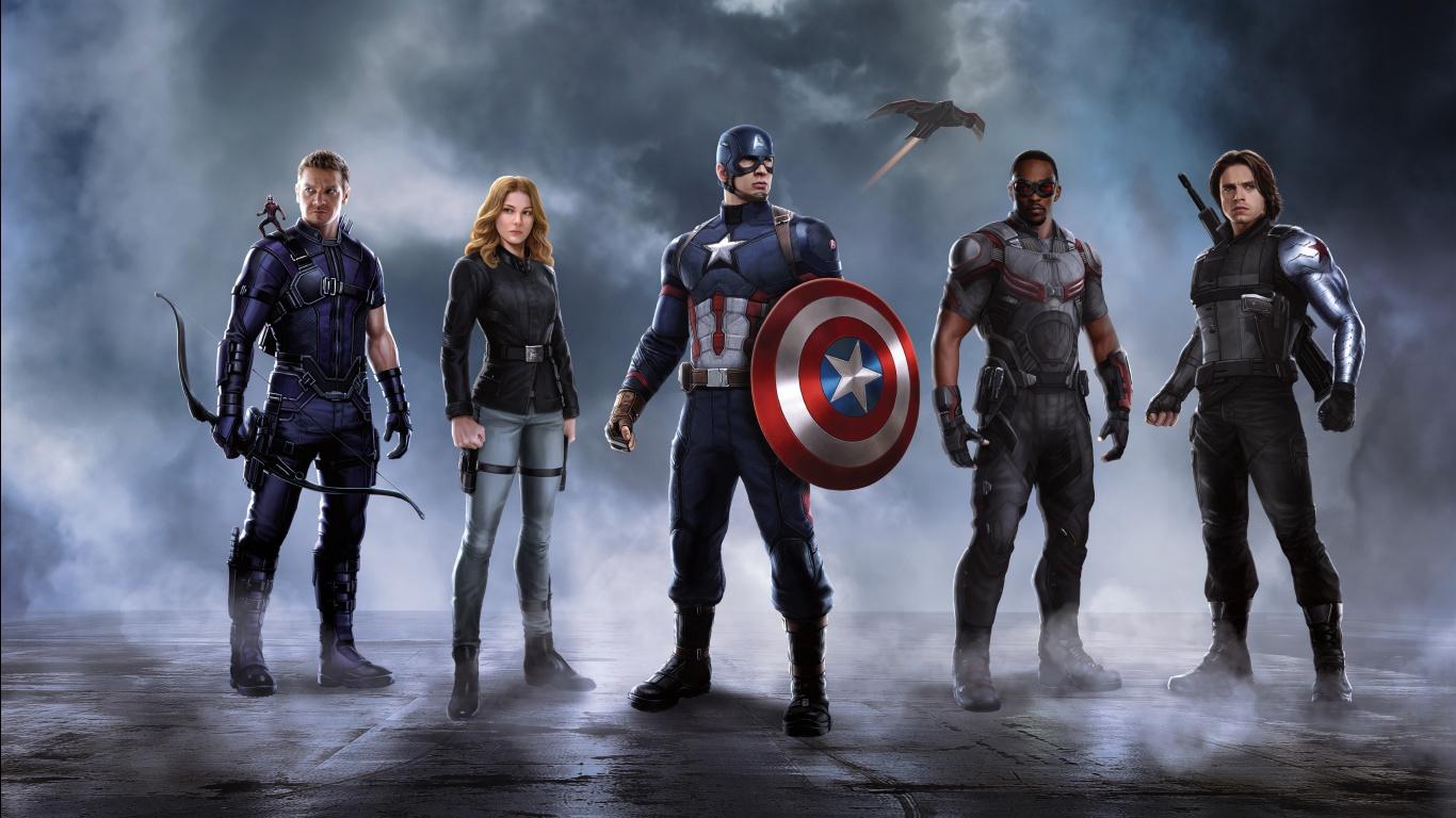 Civil War Captain America Team Wallpapers HD Wallpapers 1366x768