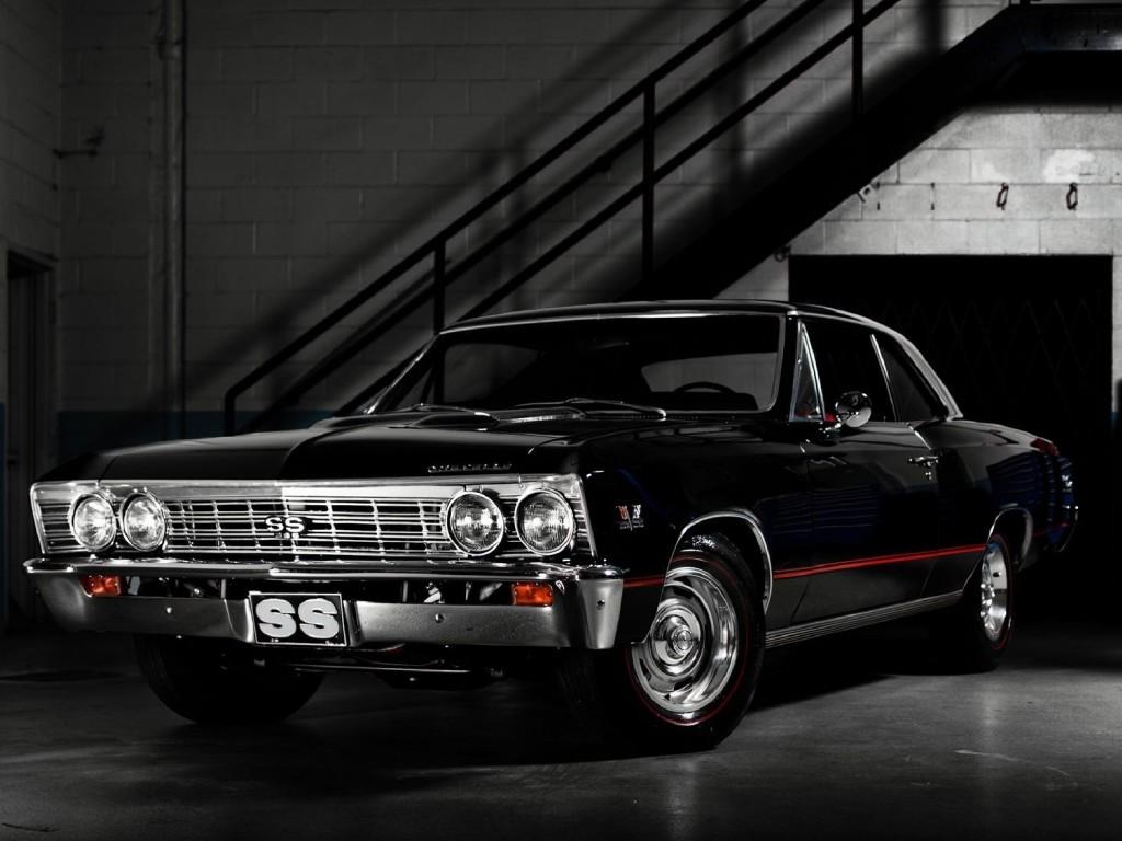 Wallpaper 66 Chevrolet Chevelle Chevelle Chevy Car Black Classic 1024x768