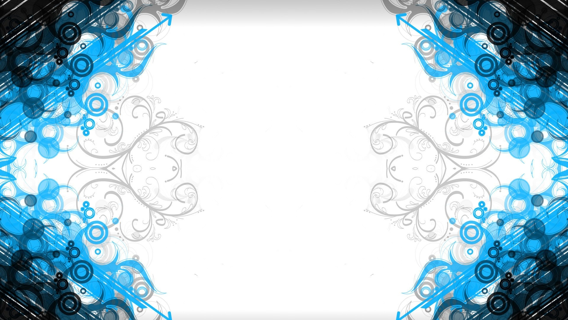 Abstract White Blue 1920x1080
