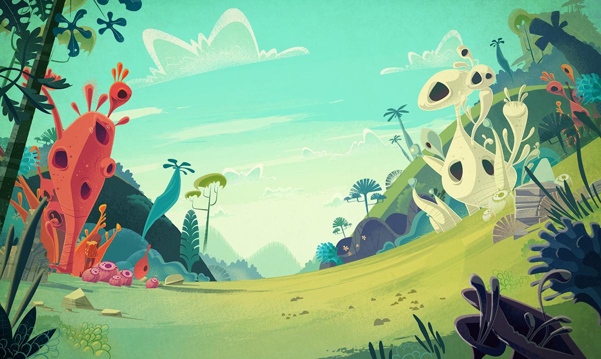 CARTOON BACKGROUNDS on Behance Animation background Cartoon 1200x718