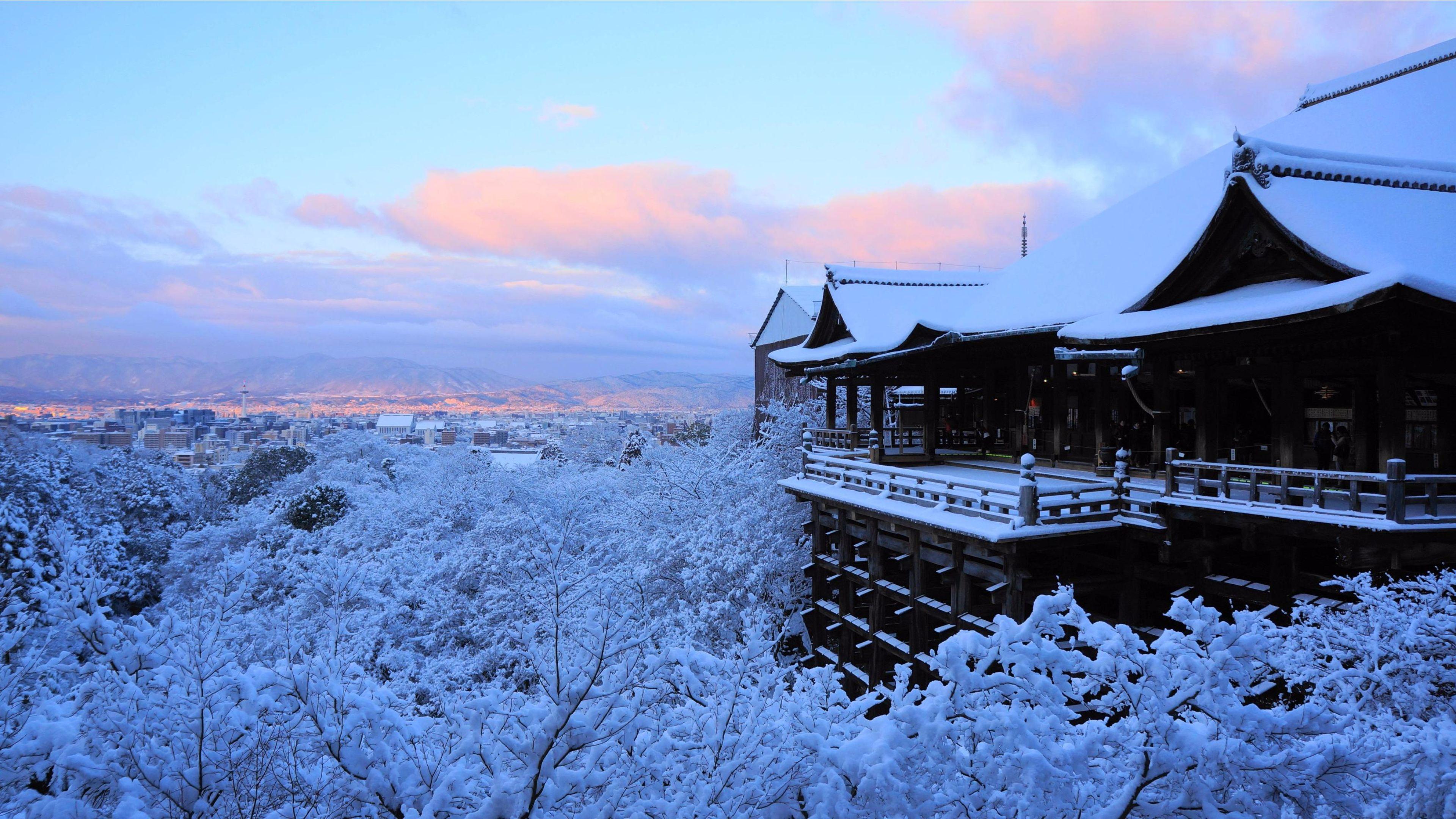 Amazing Winter 2016 Kyoto Japan 4K Wallpaper 4K 3840x2160