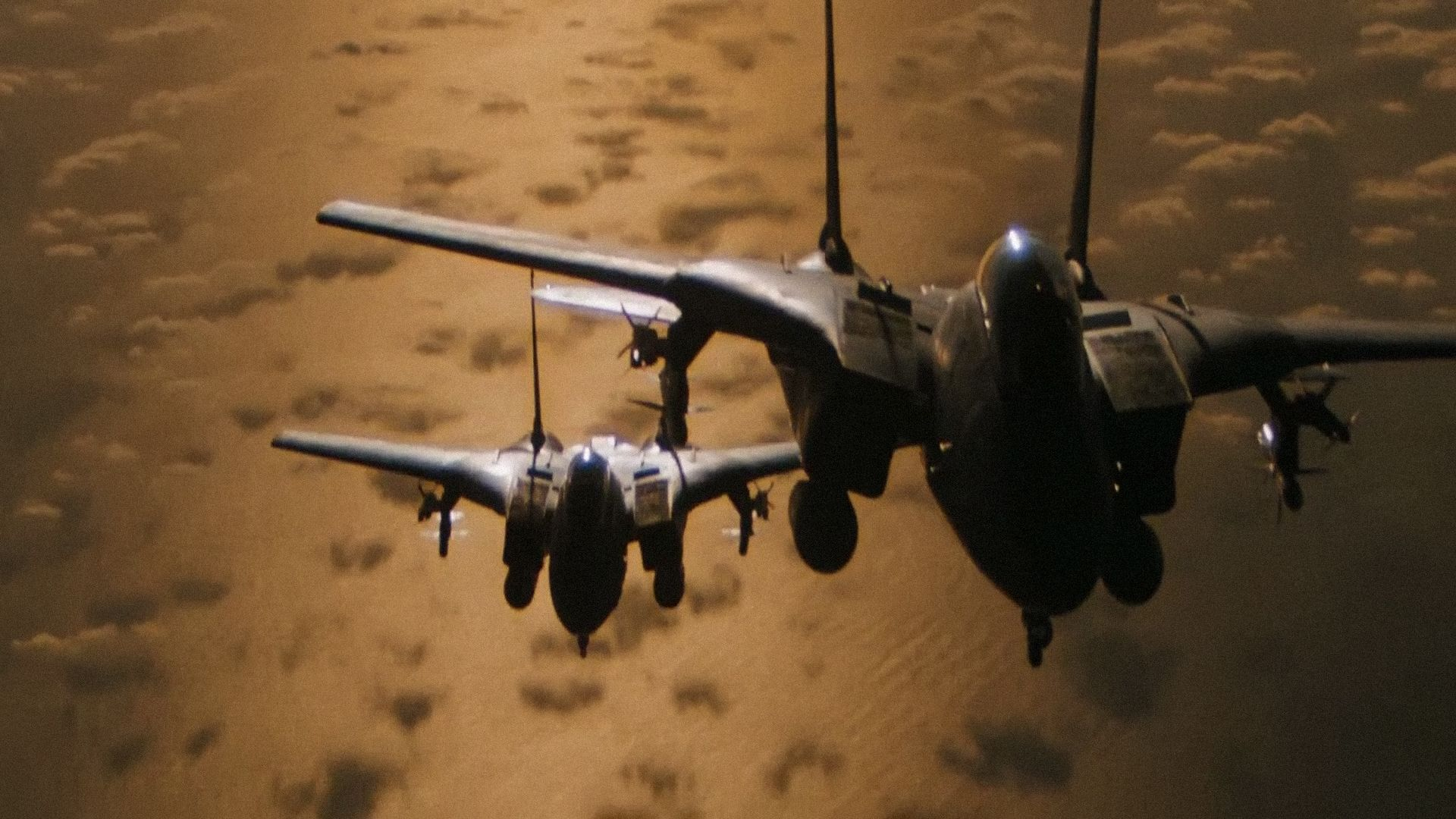scene from Top Gun of 2 F 14 Tomcats Awesome favorite fighter 1920x1080