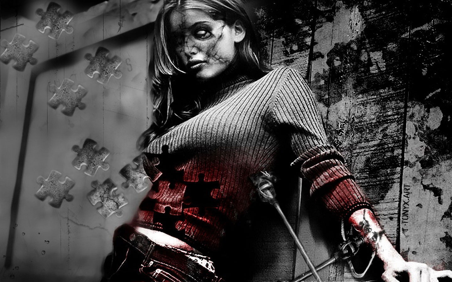 Hd wallpaper zombie - Zombie Girl Hd Desktop Wallpaper Hd Wallpaper