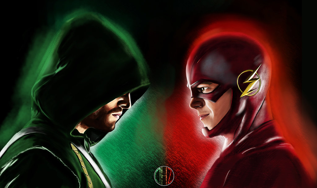 141205 Arrow VS the Flash by dhz dreamer 1024x609