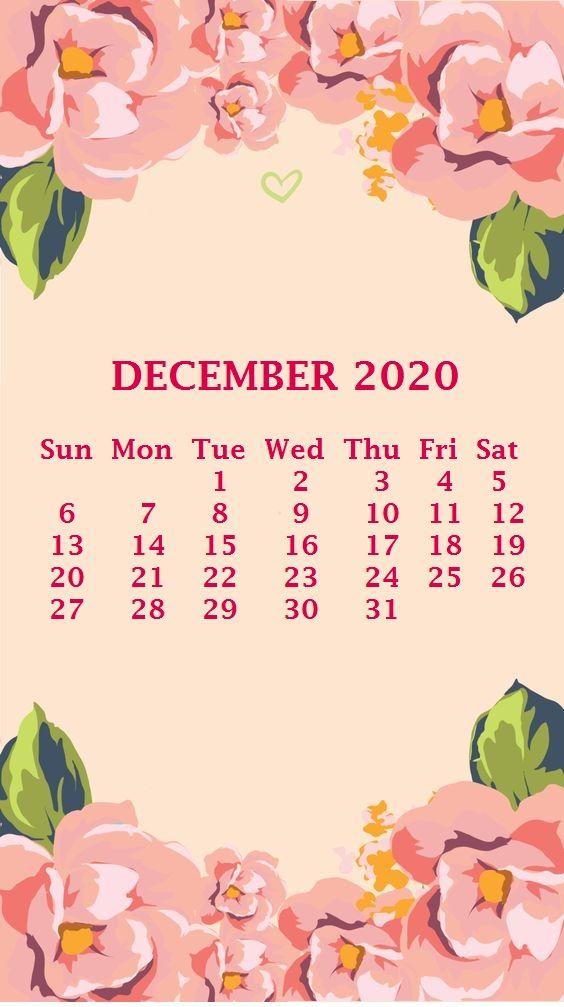 iPhone December 2020 Calendar Wallpaper Calendar wallpaper 564x1007