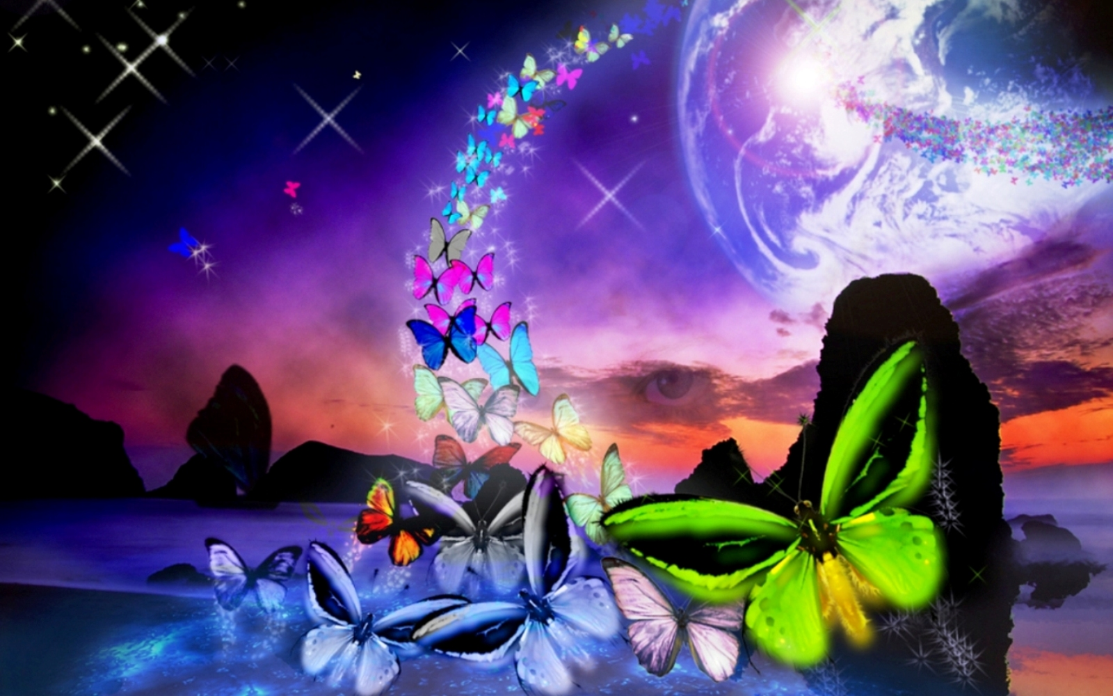 Colorful Butterfly Backgrounds 8 Background Wallpaper Wallpaper 1600x1000