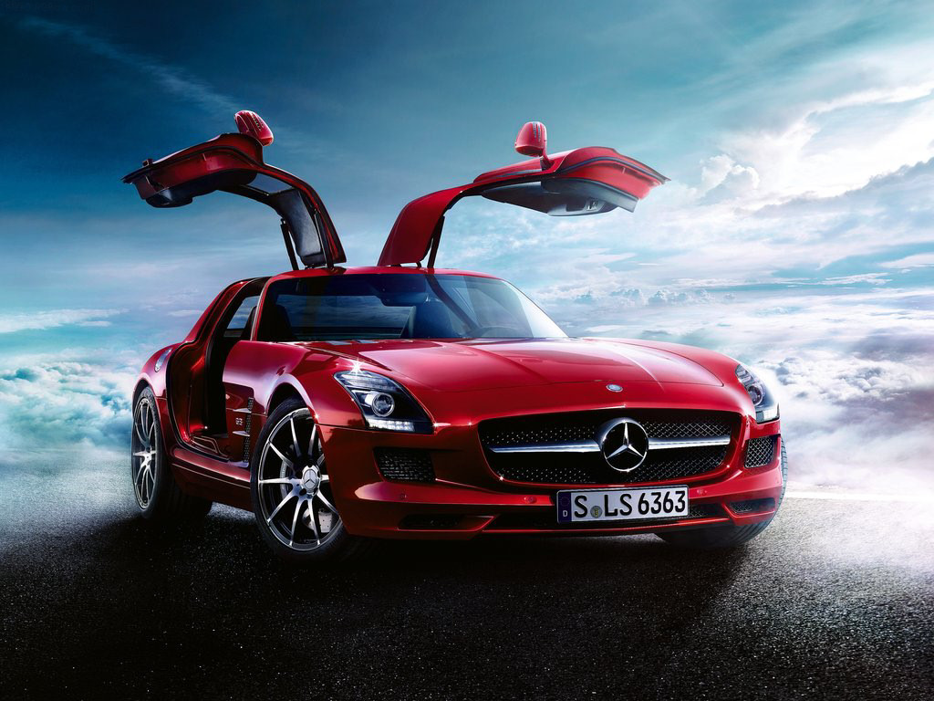 Wallpaper A Red Mercedes Benz Car Wallpaper World 1024x768