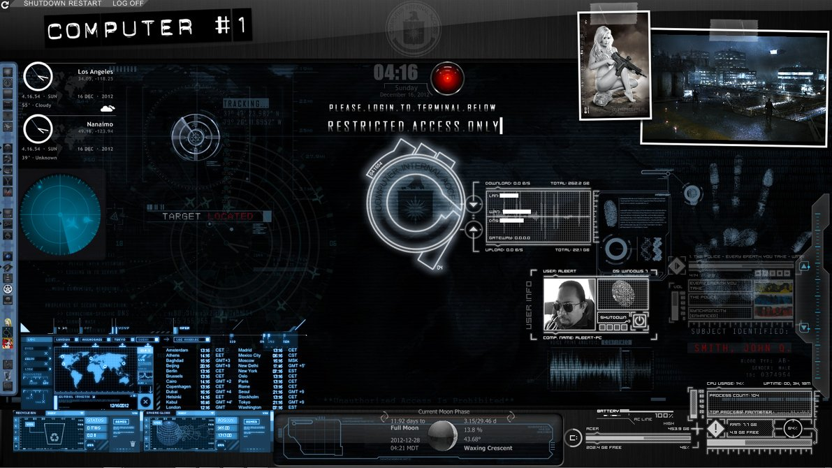 Amateur Spy [Rainmeter Desktop] by OmegaManLegend 1191x670