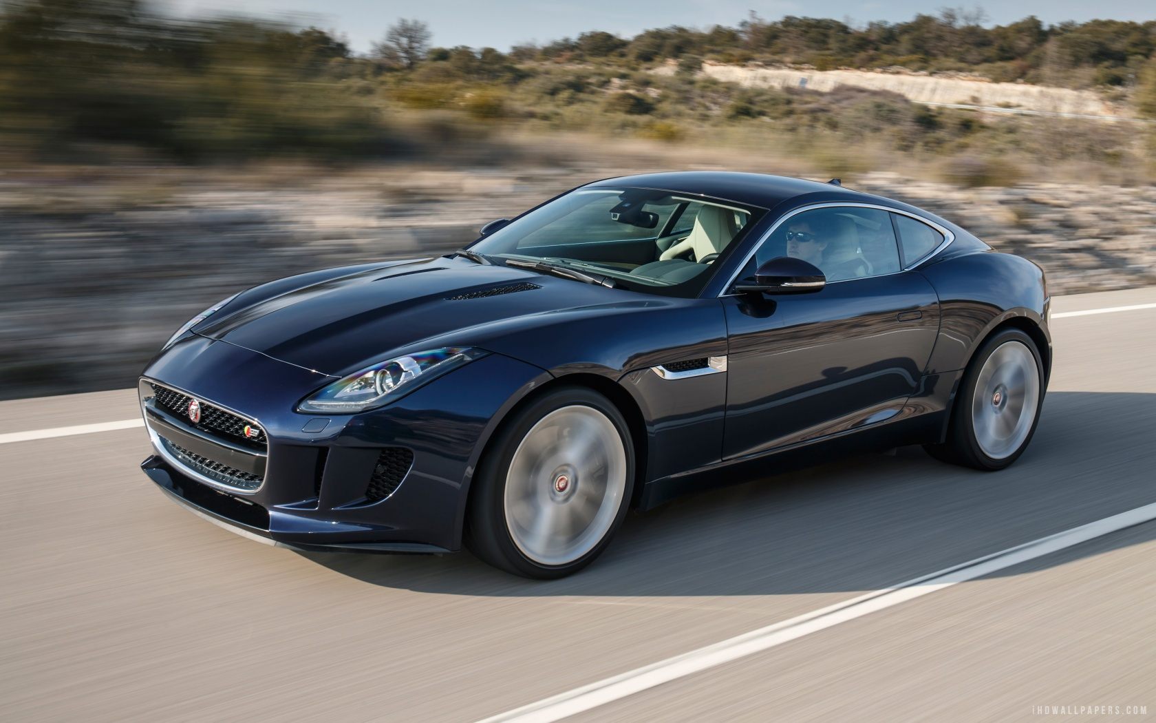 Jaguar F Type Coupe 2015 Car HD Wallpaper   iHD Wallpapers 1680x1050