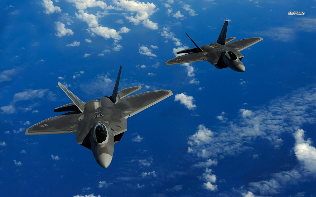 Lockheed Martin F 22 Raptors wallpaper   Aircraft wallpapers   8962 1280x800