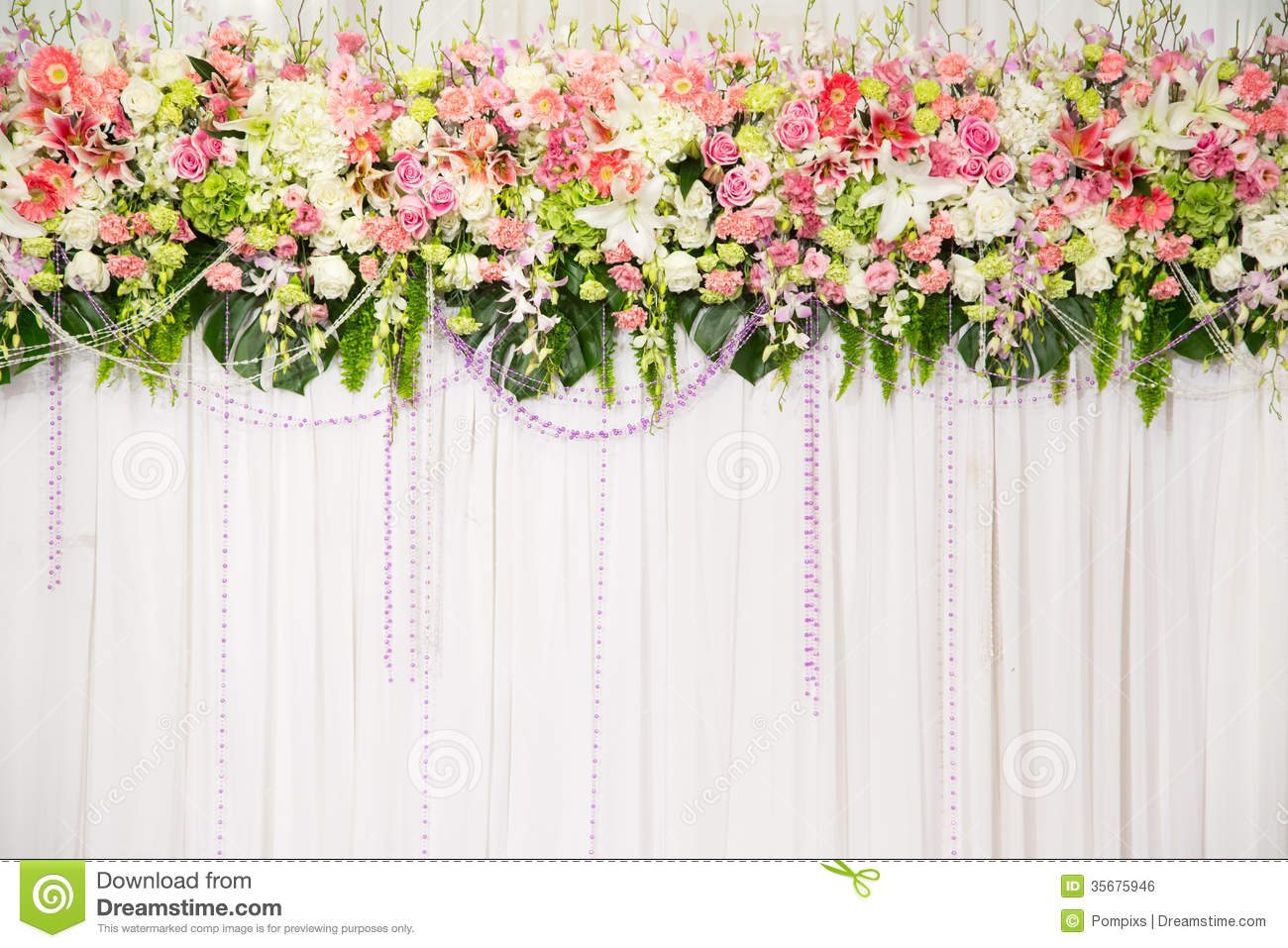 Wedding flower backgrounds wallpapersafari for Background decoration for wedding