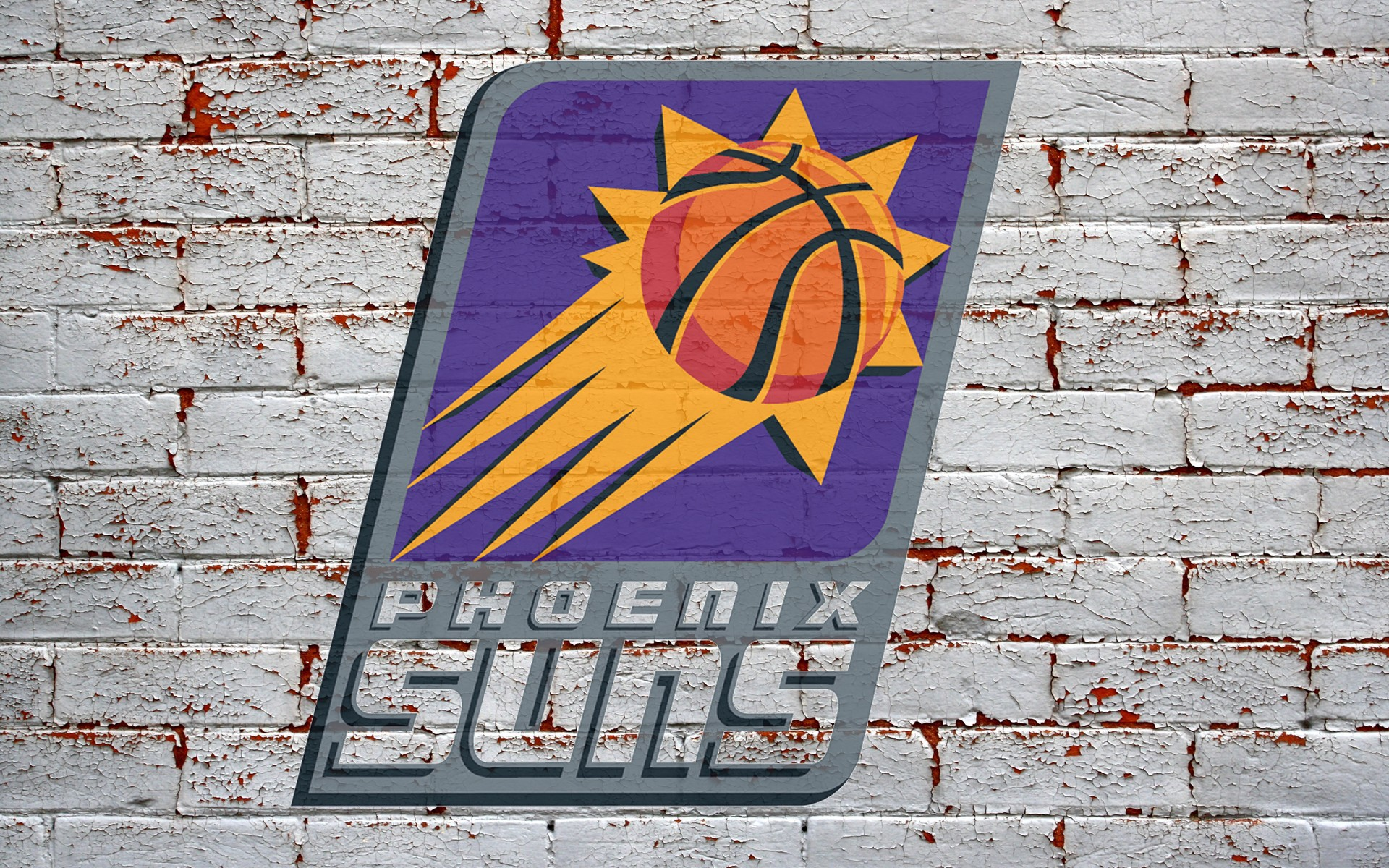 sportshdwallpaperscomdownloadphoenix suns logo on brick wall 1920x1200