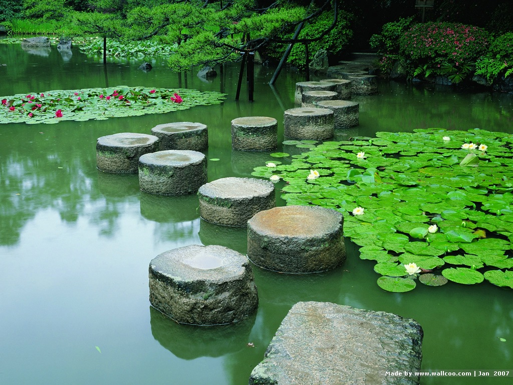 Kyoto Japanese Garden wallpapers 1024x768 NO22 Desktop Wallpaper 1024x768
