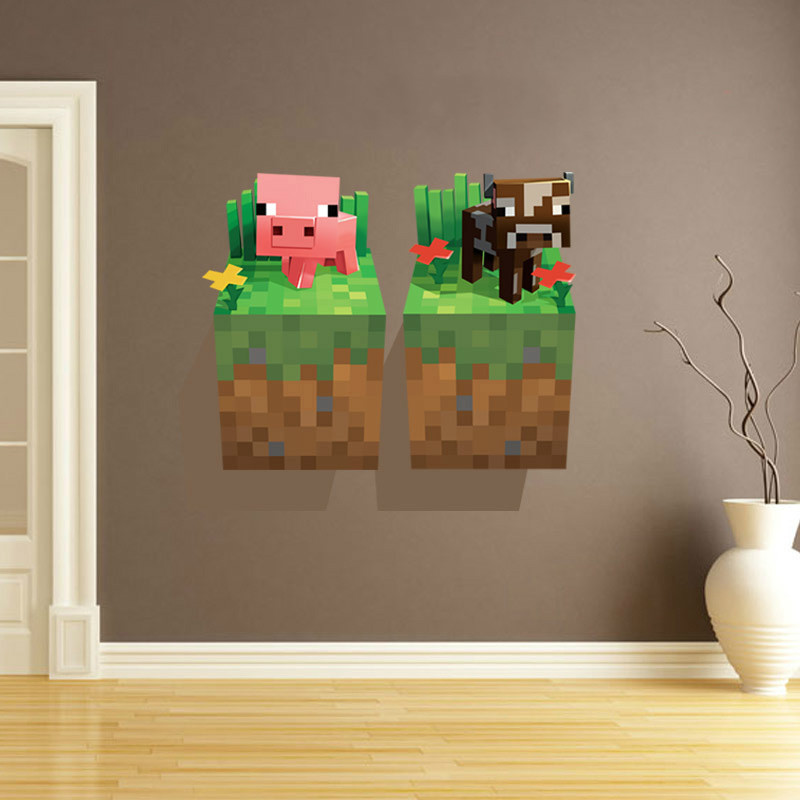 3D Minecraft Wallpaper Stickers Decoration Cartoon Removable Decor 800x800
