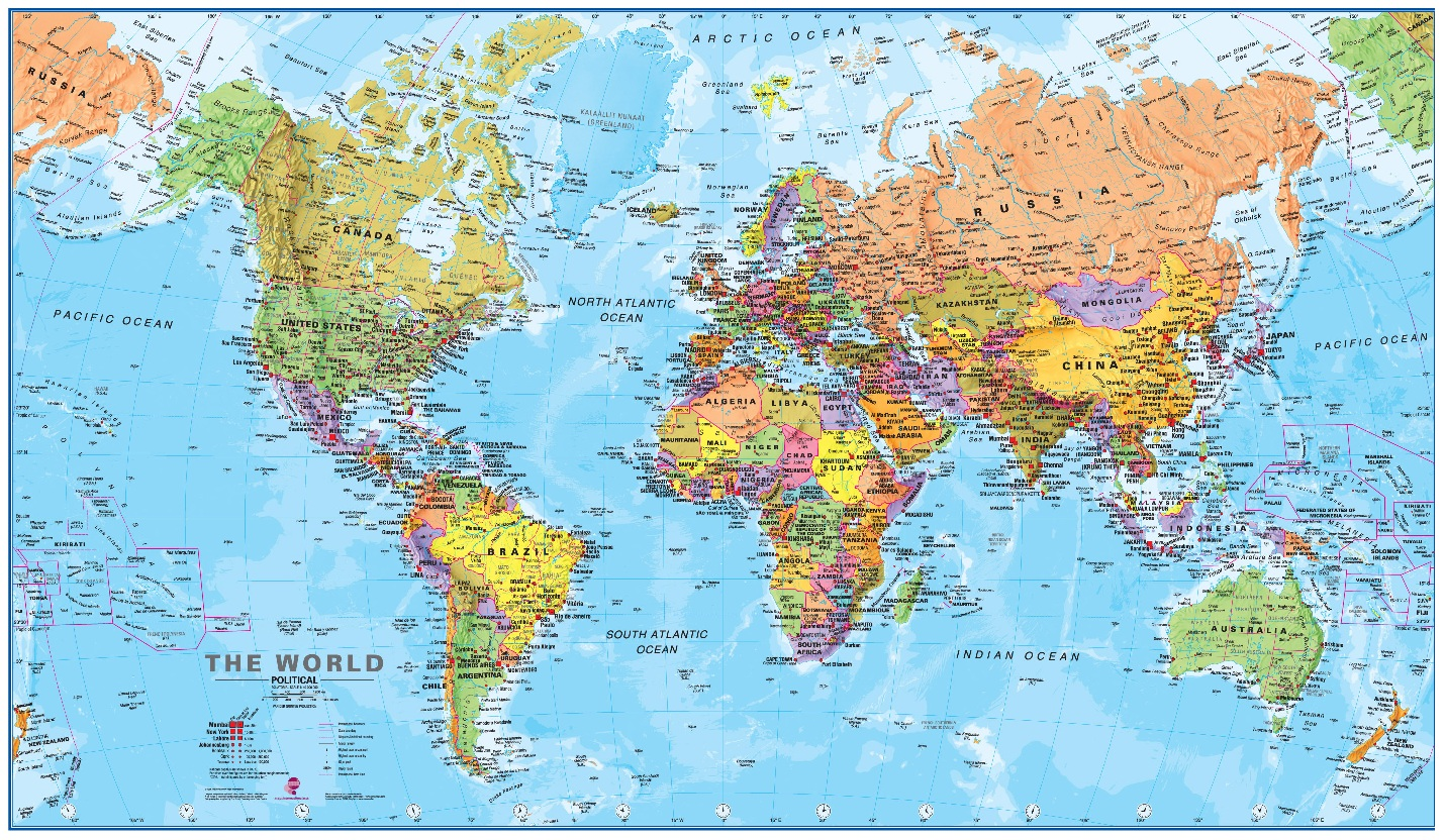 World Map Poster Usa Map Guide 2016
