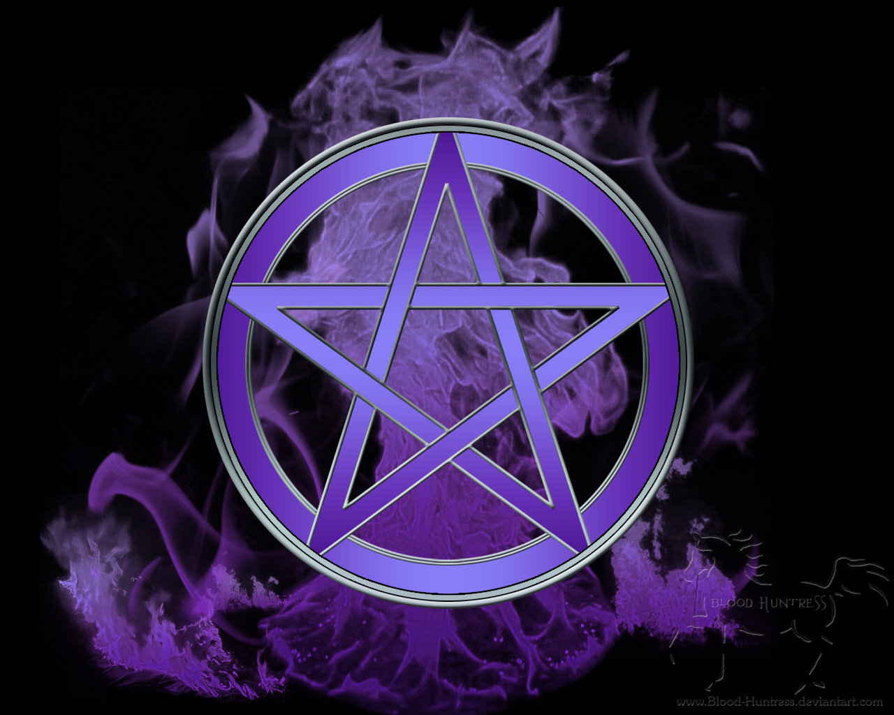 Wiccan Pentacle Wallpaper Flames pentacle by blood 1280x1024