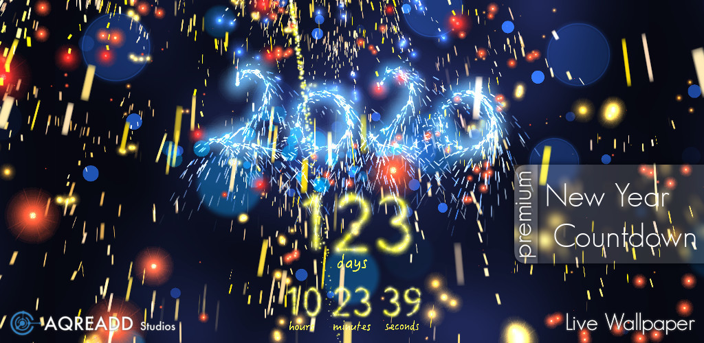 New Year Countdown app for android 1024x500