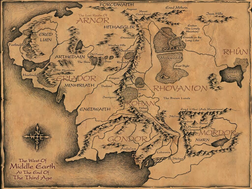 Go Back Gallery For Lord Of The Rings Map Wallpaper 1024x768