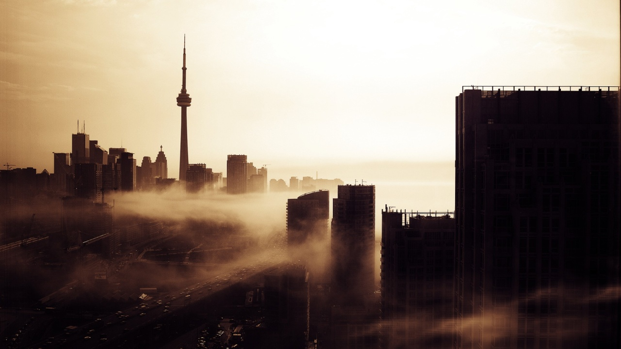 Toronto Evening Skyline Wallpaper WallpaperzCO 1280x720