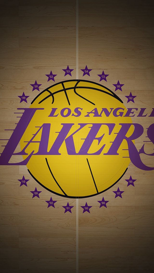 Los Angeles Lakers iPhone 5s Wallpaper NBA iPhone Wallpapers 640x1136