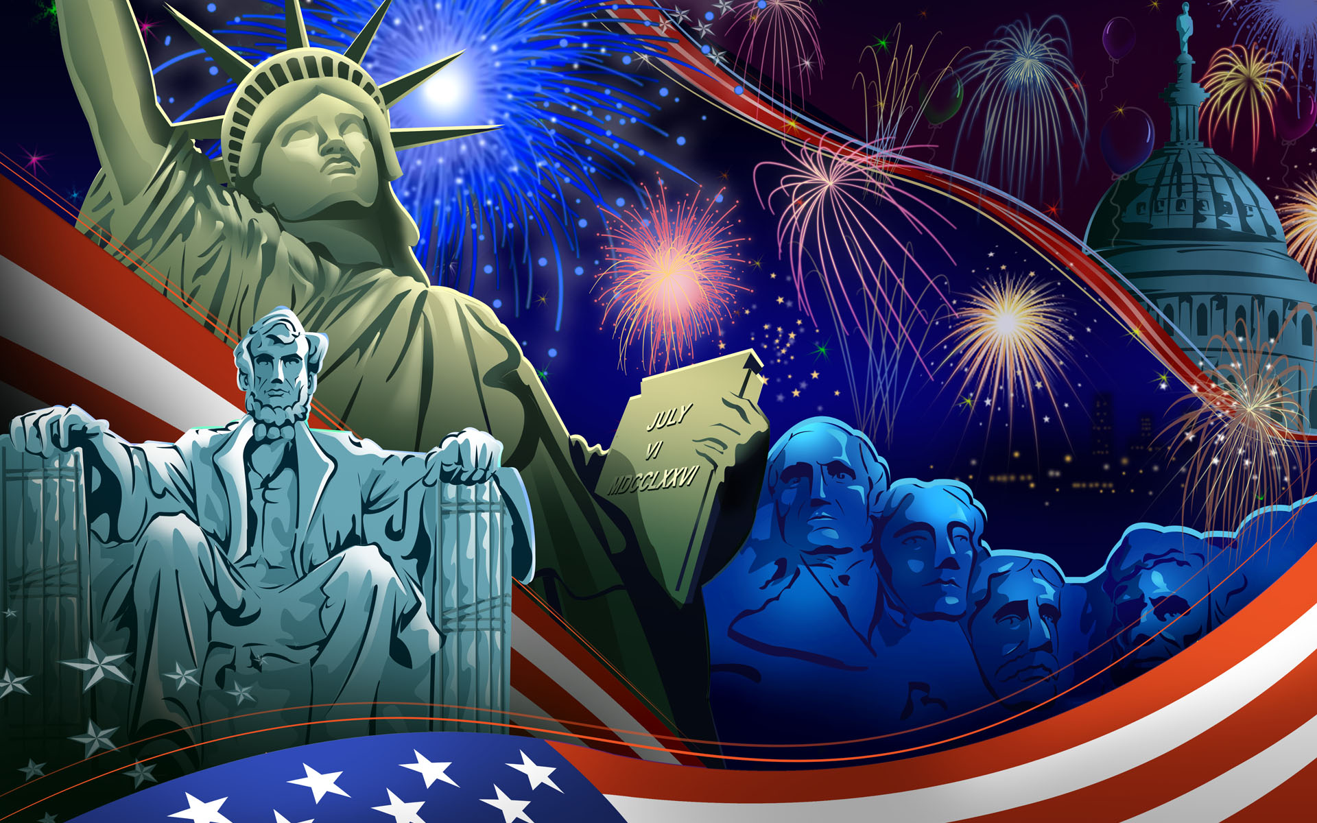 USA Independence Day Celebration Wallpapers and Photos 2014 Update 1920x1200