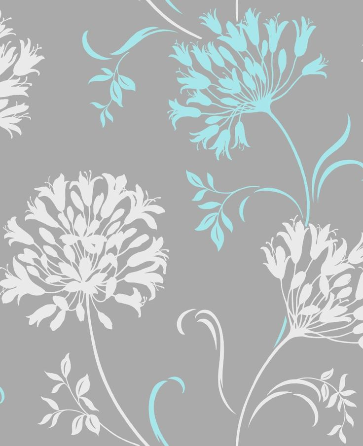 Gray and Turquoise Wallpaper - WallpaperSafari
