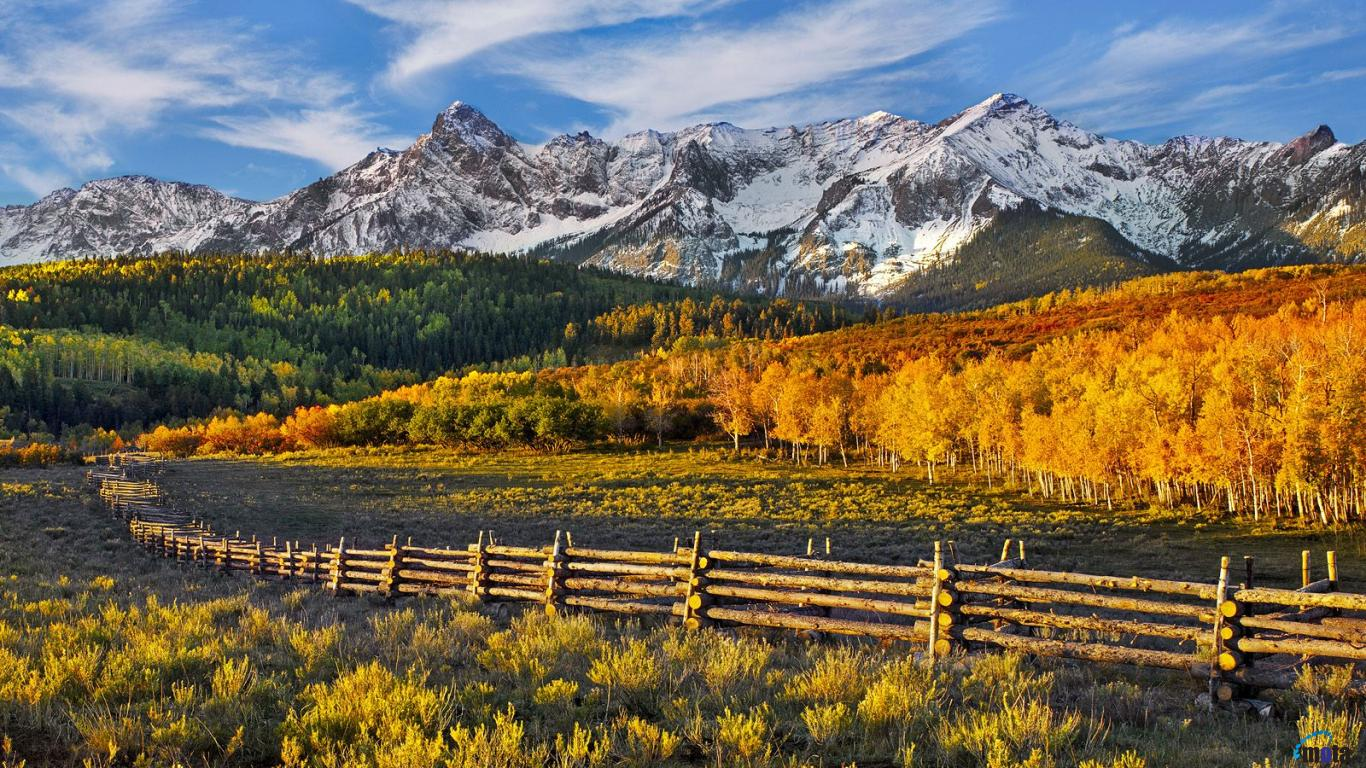 Download Wallpaper Mountain pass Dallas Divide Colorado 1366 x 768 1366x768