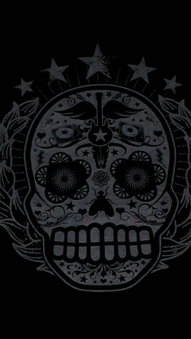 Sugar Skull Wallpaper for Pinterest 640x1136