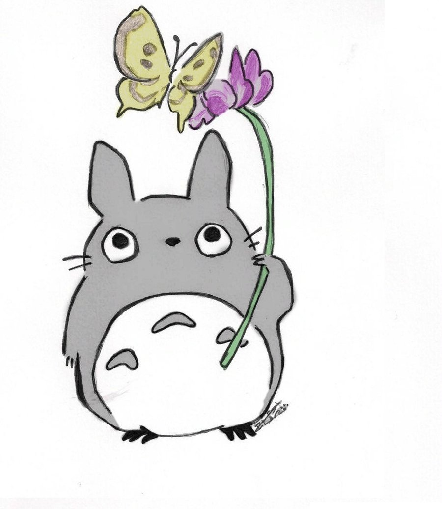 Cute totoro wallpaper wallpapersafari for Deviantart wallpaper