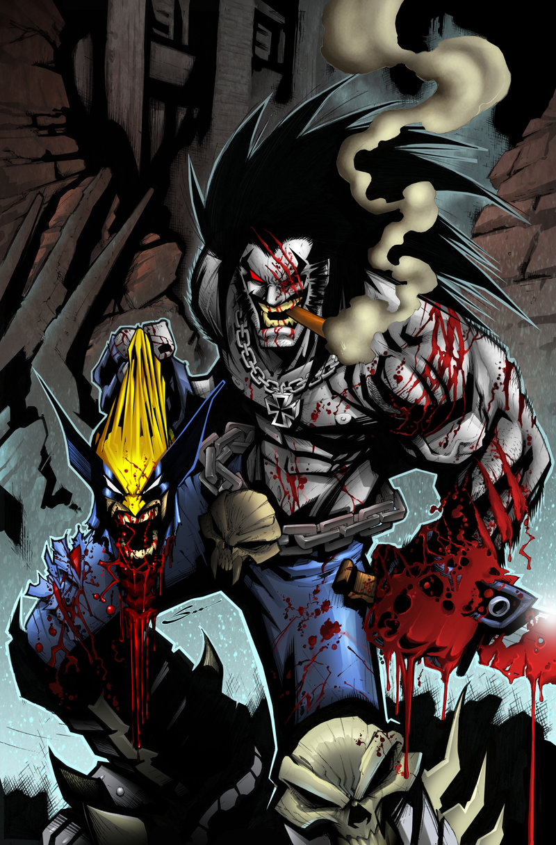 Lobo Vs Wolverine pencils inks and colors by Gerardo Sandoval 800x1215