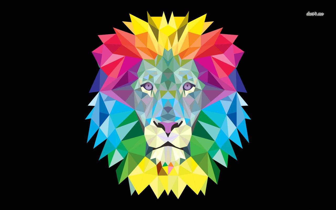 Colorful lion wallpaper   Digital Art wallpapers   43244 1280x800