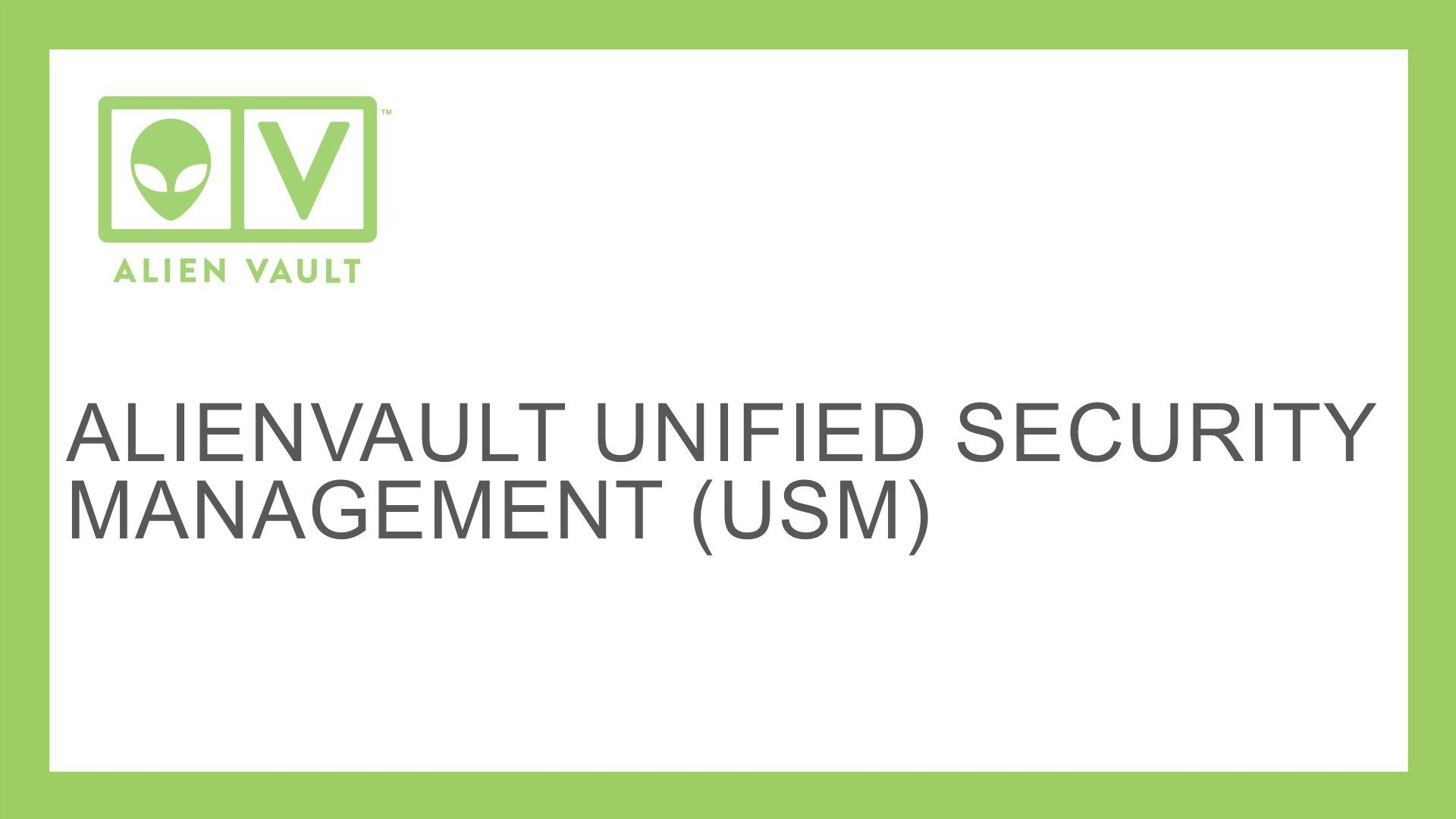 AlienVault Unified Security Management USM CyberSecurity 1920x1080