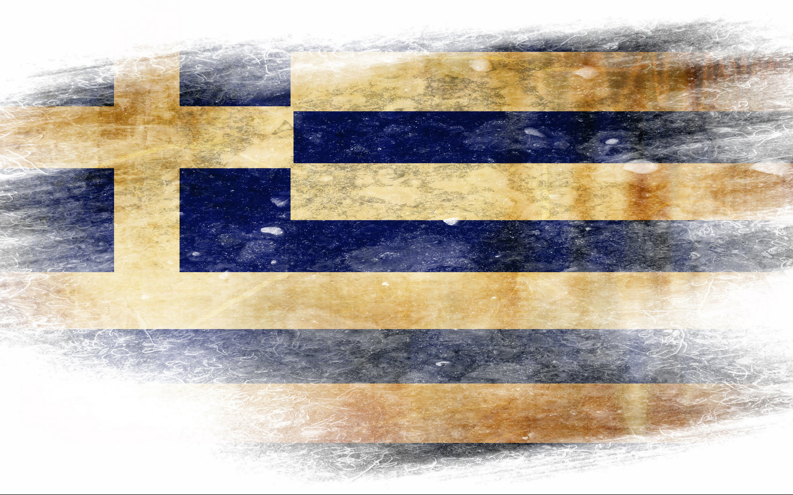Flag of Greece Computer Wallpapers Desktop Backgrounds 2560x1600