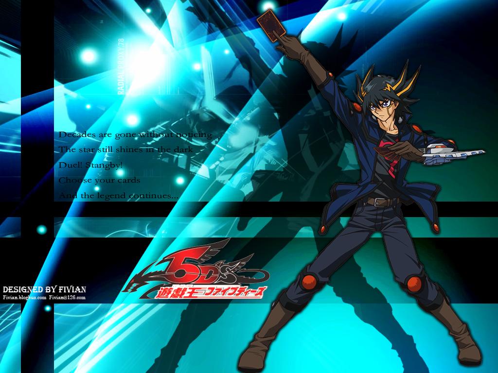 10th Anime Wallpaper   Yusei by Fivian 1024x768