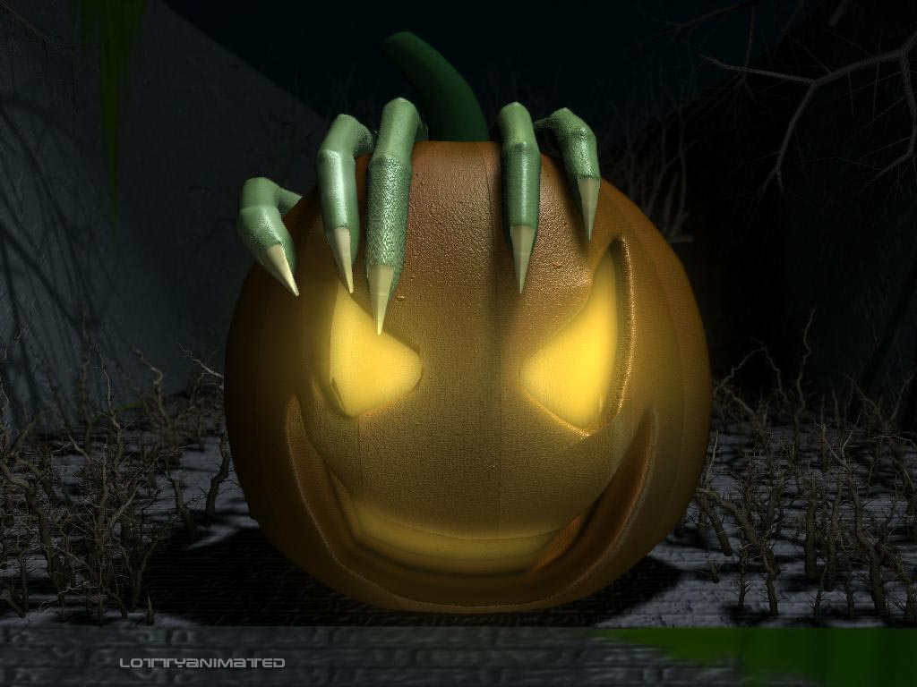 computer 3d halloween wallpapers pumkins 3d halloween wallpapers 3d 1024x768
