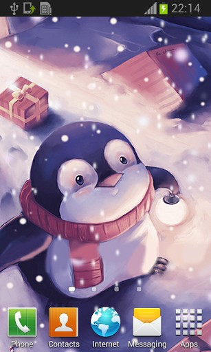 View bigger   Cute Peguin Run Live Wallpaper for Android screenshot 307x512