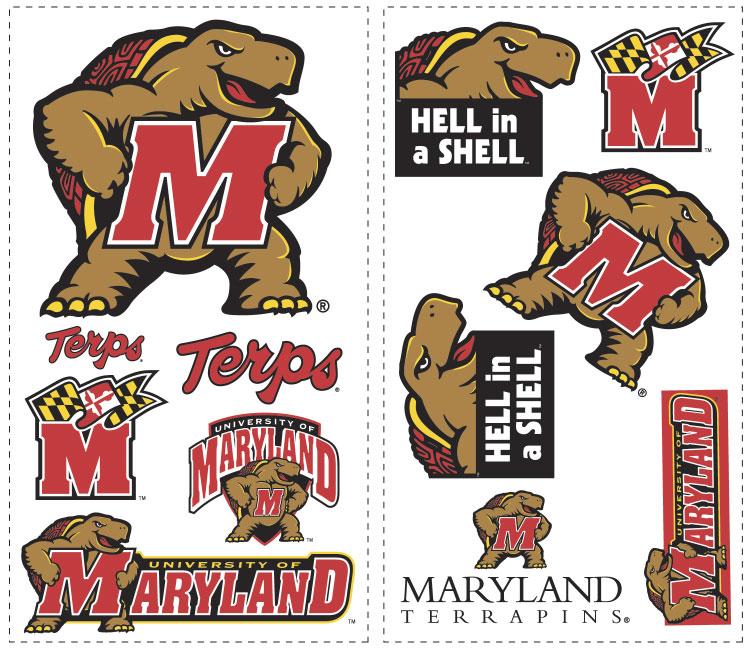 Univ of Maryland Terrapins   Wallpaper Border 752x649