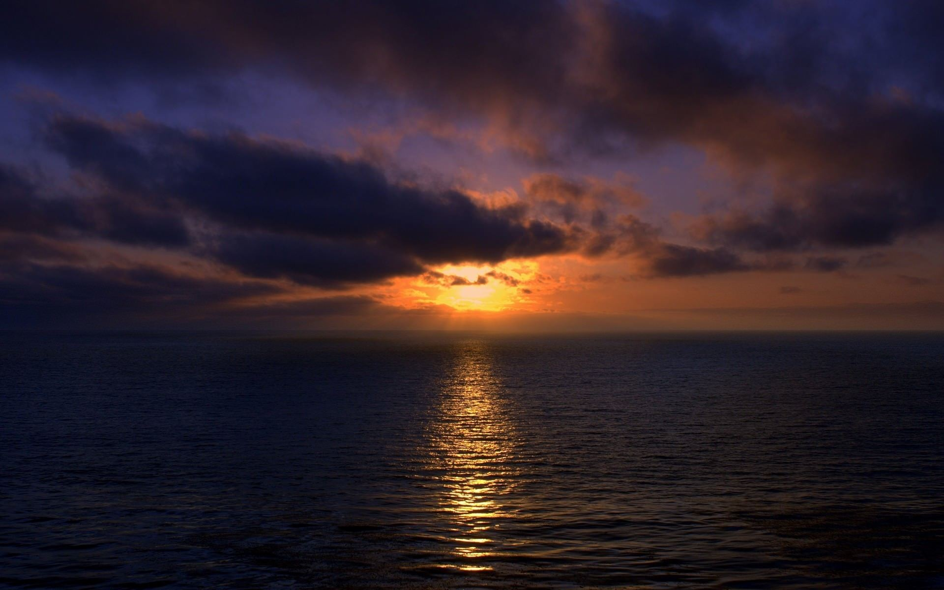 Sunset Over Ocean Wallpaper 1920x1200 1920x1200