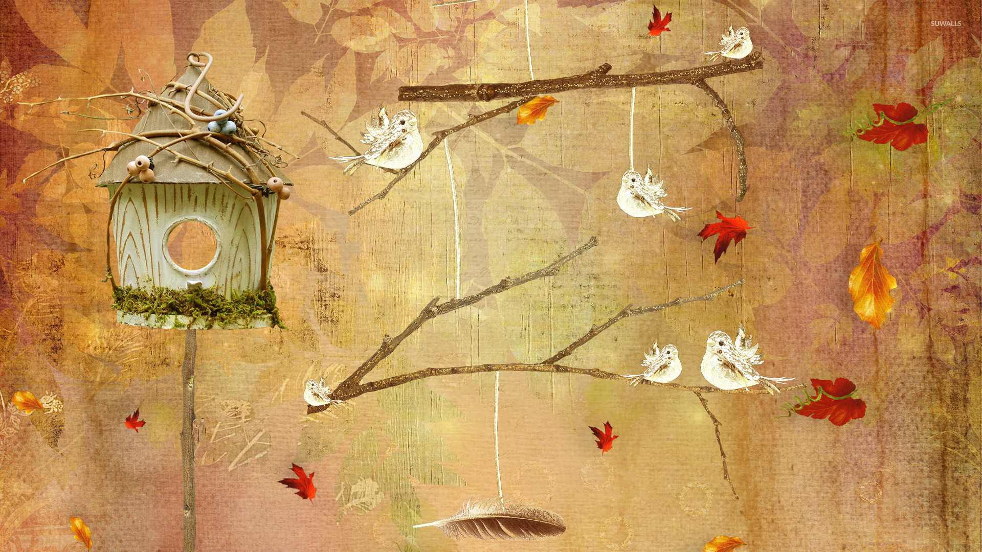 Bird house wallpaper   Artistic wallpapers   25985 1680x1050