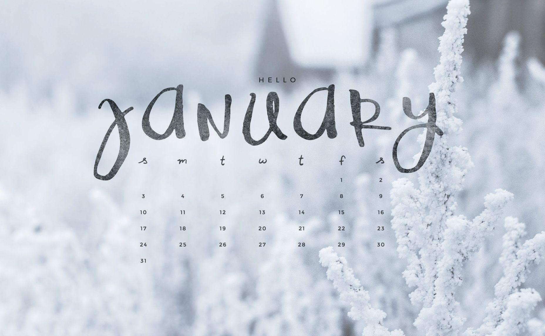 Desktop Wallpapers Calendar January 2016 1856x1144