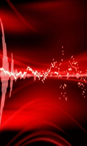this red digital sound wave live wallpaper Perfect wallpaper 307x512